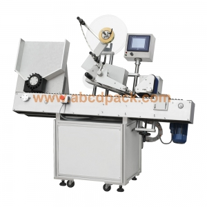 Horizontal vial rolling labeling machine
