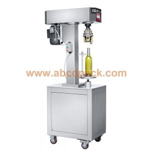 Semi automatic screw cutting capping machine